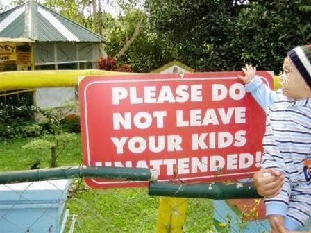 Do no leave kids. Period.