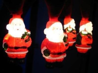 Glowing Santa hat, Santa Claus