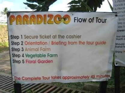 The farm's flow of the tour. And to enjoy it best, I suggest that visitors come during Saturdays & Sundays at 3 PM to be able to see the animal parade.